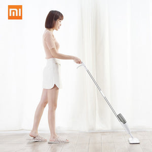 Xiaomi Mijia Smart Deerma Water Spray Mop Sweeper 1.2m Rod Carbon fiber dust cloth 360 Rotating Cleaning Cloth Head Wooden Floor Ceramic Tile Mops Dry Cleaning Tools 350ml Tank  iontec.mx