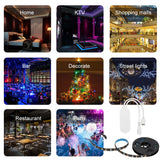 WIFI PC/TV Backlight Kit 2M 6.56ft RGB Light Strip LED Strip Lights 5050 SMD 60 LEDs Dimmable Waterproof Compatible with Amazon Alexa and Google Home Smart Wifi Tape Lights with DC RGB LED Controller - iontec.mx