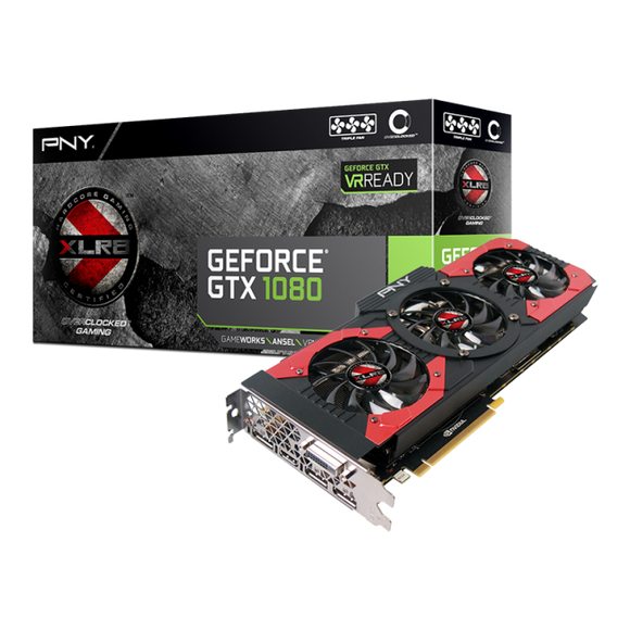 TARJETA DE VIDEO PNY GTX  1080 XLR8 GAMING OC 8GB - iontec.mx