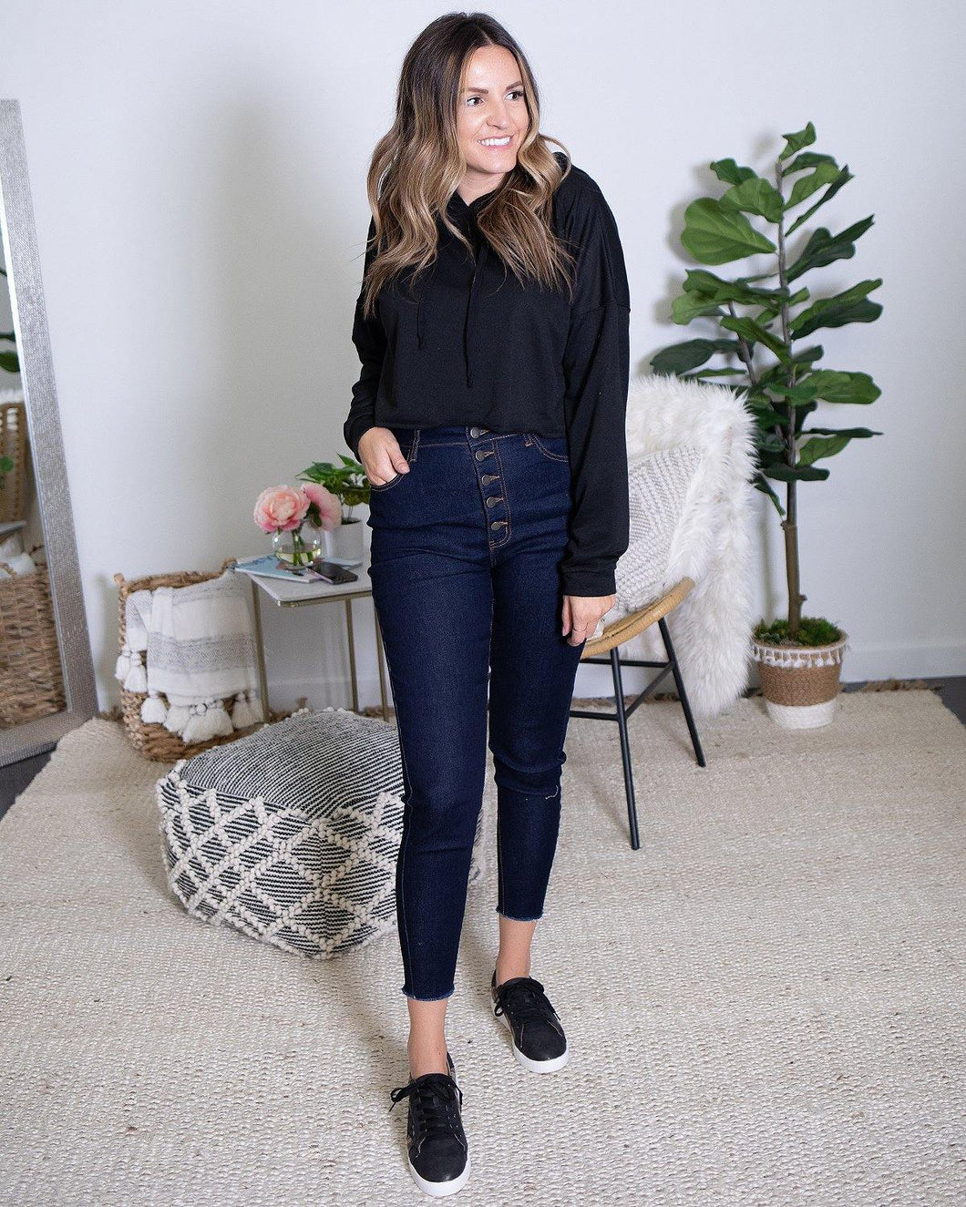 Button Fly Jeans - The Local Women's Boutique Clothing