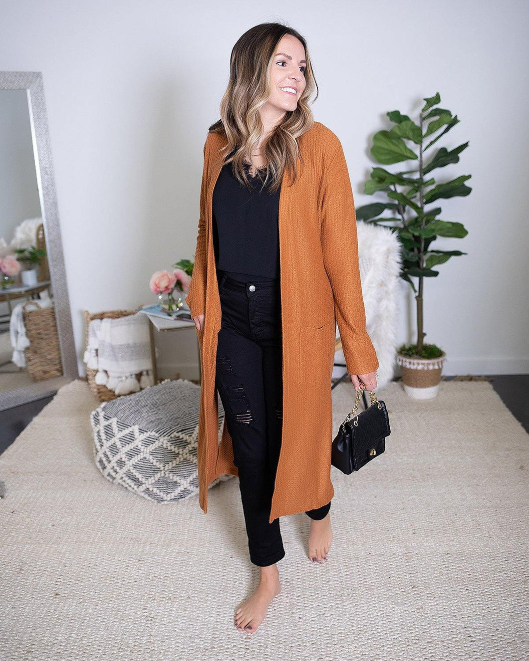 Camel Duster Cardigan - The Local Women's Boutique Clothing