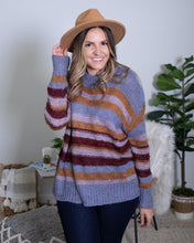 Load image into Gallery viewer, Blue Multi Striped Sweater - The Local Women's Boutique Clothing