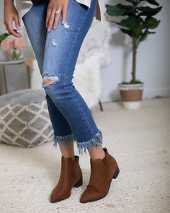 Chestnut Suede Bootie - The Local Online Women's Boutique
