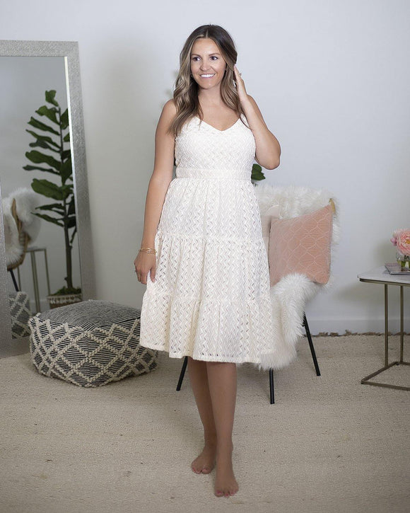 Ivory Lace Midi Dress - The Local Online Women's Boutique