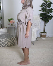 Load image into Gallery viewer, Taupe Ruffle Dress - The Local Women's Boutique Clothing