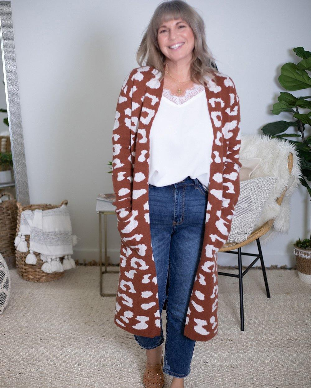 Leopard Print Cardigan - The Local Women's Boutique Clothing
