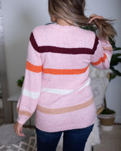 Load image into Gallery viewer, Multi Striped Crewneck Sweater - The Local Women's Boutique Clothing