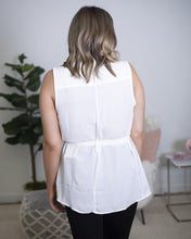 Load image into Gallery viewer, White Belted Vest - The Local Women's Boutique Clothing