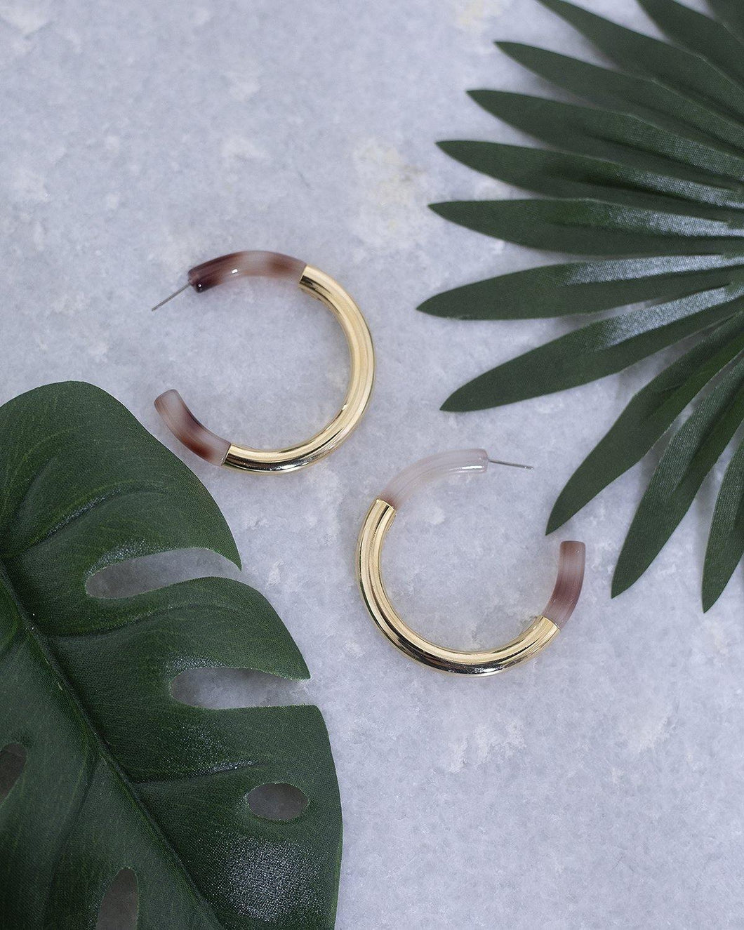 Acetate Metal Hoops - The Local Women's Boutique Clothing