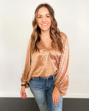 Load image into Gallery viewer, Satin Leopard Top - The Local Women's Boutique Clothing