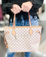 Load image into Gallery viewer, White Checkered Tote - The Local Women's Boutique Clothing