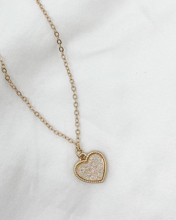 gold druzy necklace rose gold druzy necklace druzy heart necklace cute necklaces necklaces for girlfriend etsy necklaces letter necklace gold