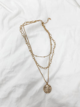 Triple Layered Coin Necklace