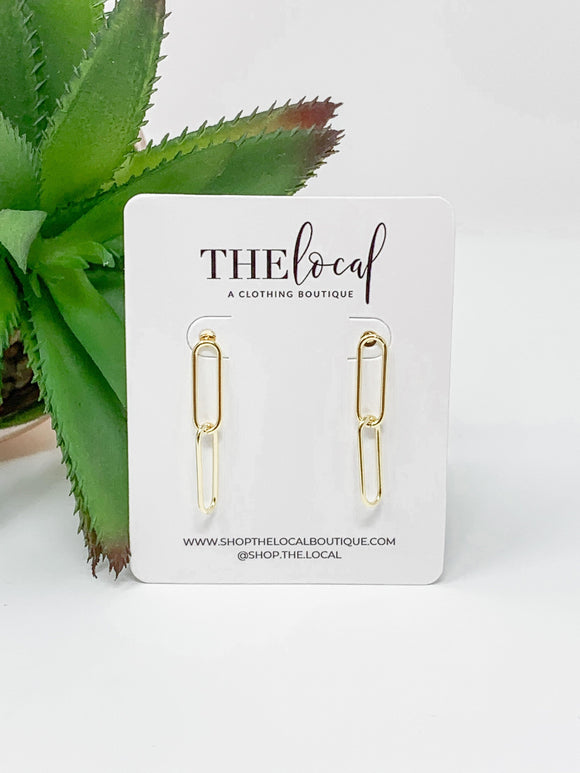 Gold Chain Earrings
