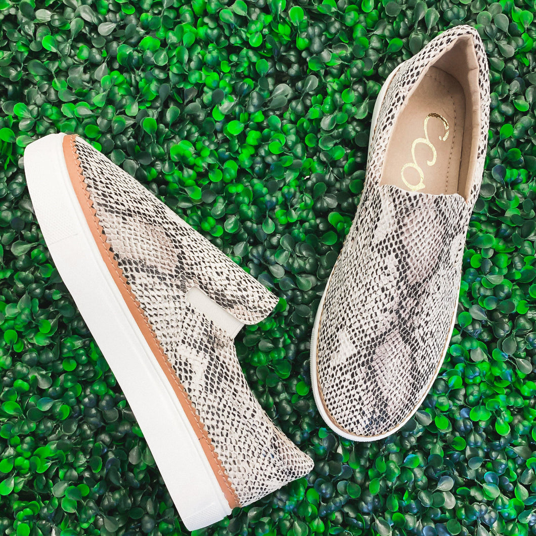 Snake Print Slip-On - The Local Women's Boutique Clothing