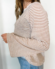 Load image into Gallery viewer, Pinstripe Crewneck - The Local Women's Boutique Clothing