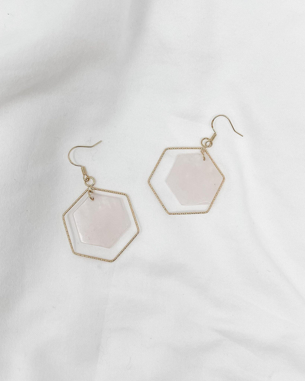 Rose Hexagon Earrings - The Local Women's Boutique Clothing