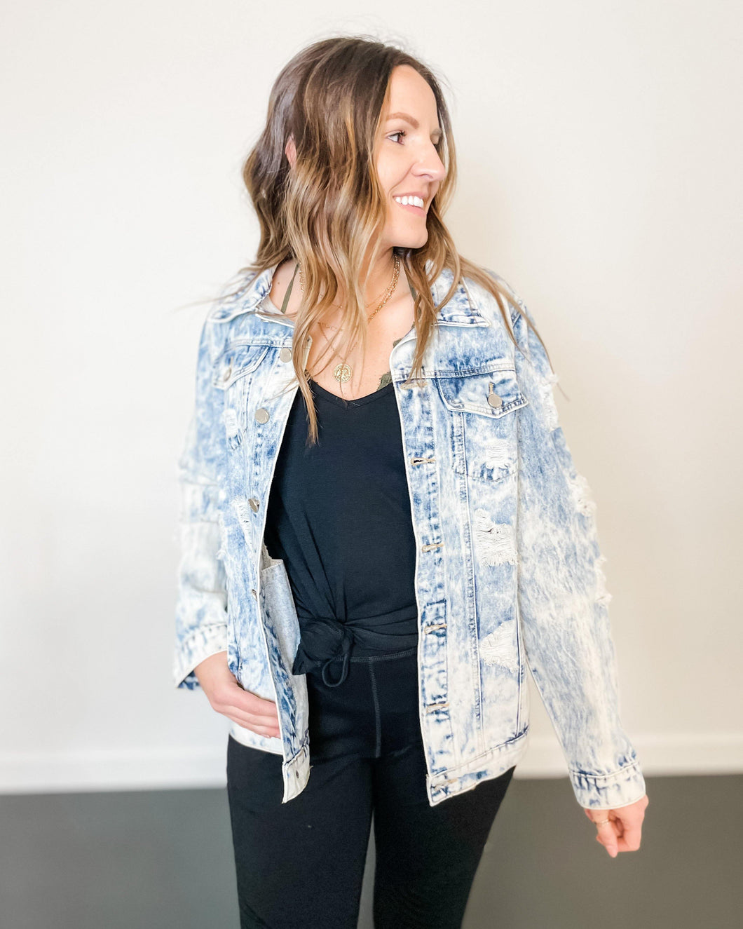Oversized Jean Jacket - The Local Women's Boutique Clothing