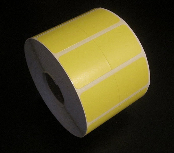 Zebra Compatible #800999-01Y 2up DT YELLOW Removable (Single Roll)