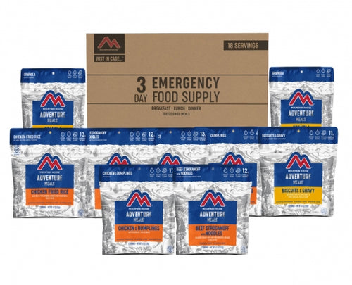 MOUNTAIN HOUSE JUST IN CASE...®3-DAY EMERGENCY FOOD SUPPLY