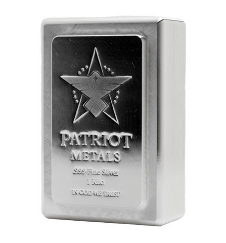 AMTV Patriot Metals Stacker Silver Bar 1 Kilo