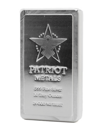 AMTV Patriot Metals Stacker Silver Bar 10 oz