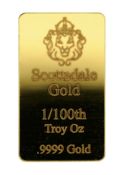 Scottsdale Gold 1/100th Oz Bar
