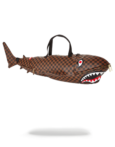 Sprayground Checkered A SHARK IN PARIS Duffle