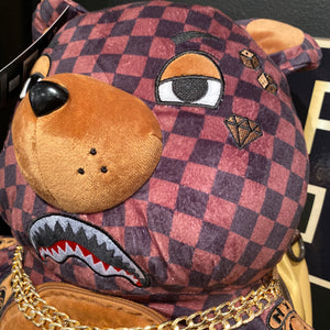 Sprayground Checkered Paris Bear Sharks in Paris Backpack