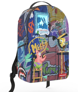 Sprayground Patrick Spongebob Art Basel Backpack