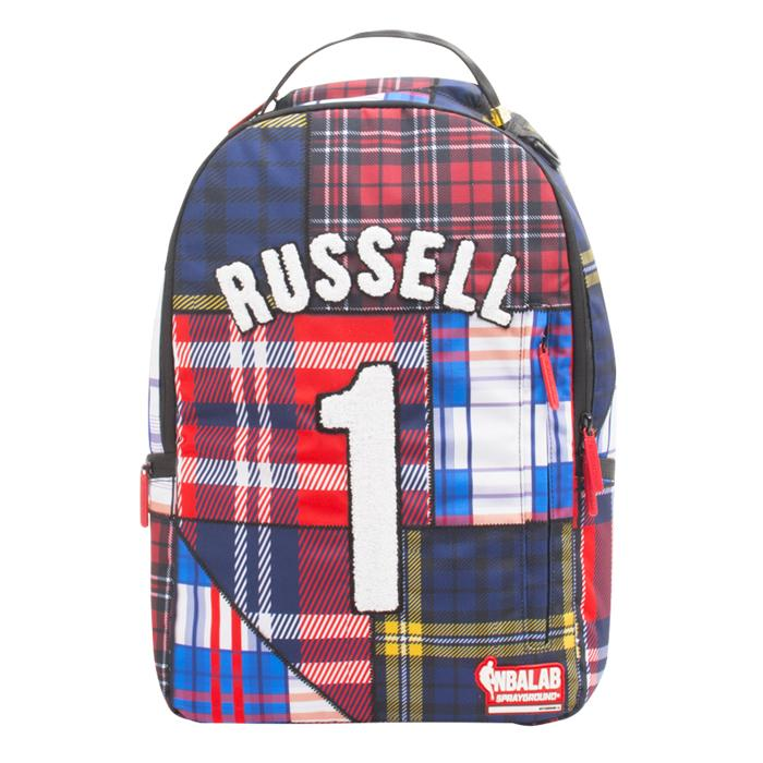 Sprayground NBA D'Angelo Russell Warriors Plaid Backpack