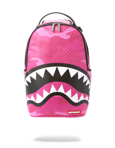 Sprayground Pink Camo Sharks in Paris Backpack