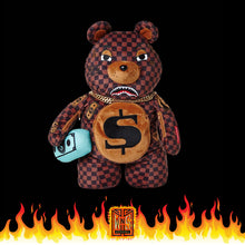 Sprayground Checkered Paris Bear Sharks in Paris Backpack (Teddy Bear)