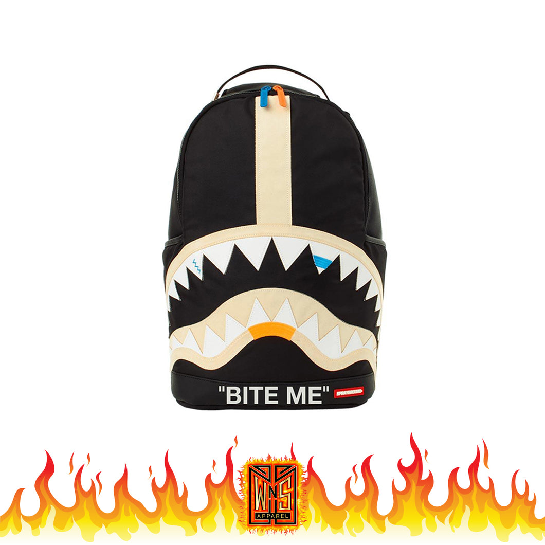 Sprayground Bite Me Black Shark Backpack