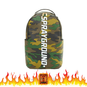 Sprayground Camo 3D MOLDED Bodyguard Backpack