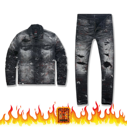 Jordan Craig Avalanche Denim Set (Bred)