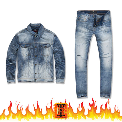 Jordan Craig Soho Denim Set (Aged Wash)
