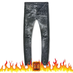 Jordan Craig Vegas Rhinestone and Paint Black on Black Denim