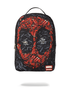 Sprayground Deadpool Mask Backpack: Black/Red