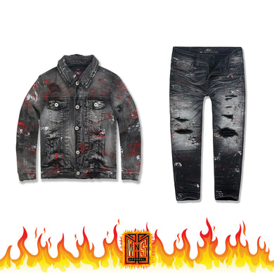 Jordan Craig Kids Avalanche Denim Set (Bred)