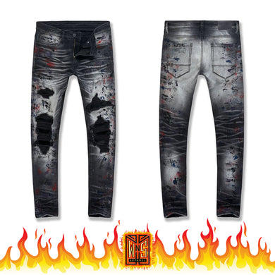 Jordan Craig Sean Reign Industrial Black Denim Jeans