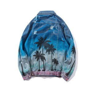 Palm Trees Jean Jacket