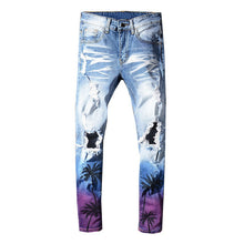 Palm Trees Slim Fit Jeans
