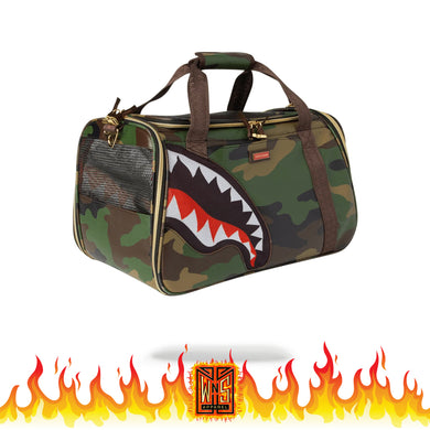 Sprayground Sharks in Paris Camo Pet Carrier