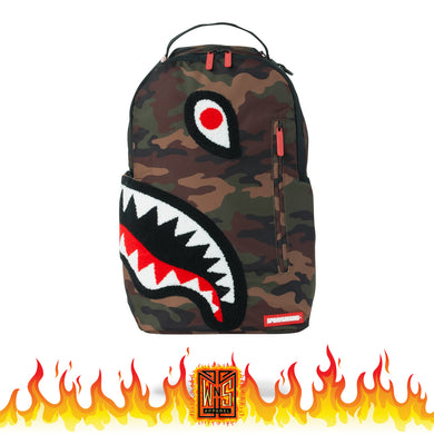 Sprayground Torpedo Side Shark Camo Backpack