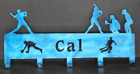 Personalized Baseball Hat Rack: Personalized Baseball Hat Holder