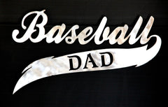 Baseball Dad plaque