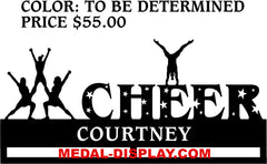 Cheer Medal Display: Cheerleading Photo Frame: Cheer Medal Holder