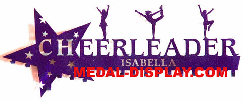 Cheer Medal  Display: Personalized Cheerleading Medals Holder: Cheer Medals Hanger