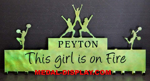 Custom Cheer Medal Holder | customcut4you.com